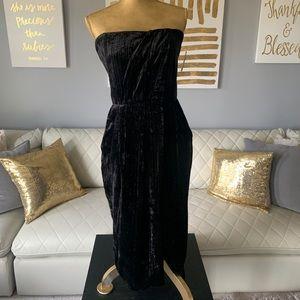 NWT- Rachel Roy Velvet Strapless Midi Dress - 12